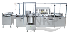 N.K.P. Pharma is a Leading Manufacturer of Eight Head Injectable Liquid Filling with Rubber Stoppering Machine.